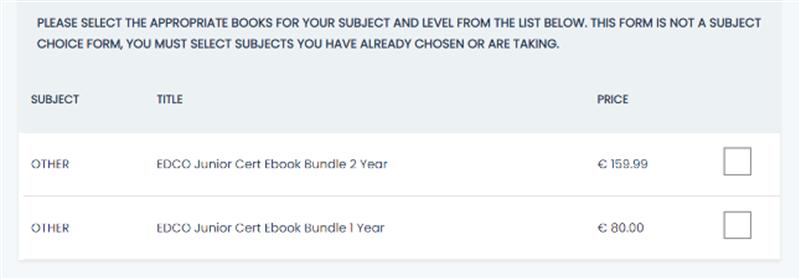 Bundle Options
