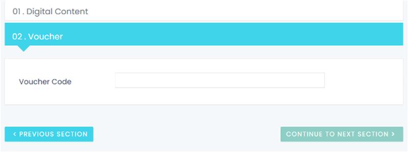 Voucher Code Screenshot