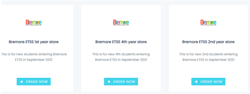 Choose Bremore ETSS 4th Year Store
